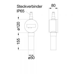 Product picture: Measuring indicator floraII (dimensions)