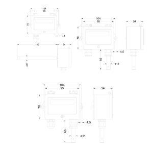 Zeichnung: Abmessungen PFT28