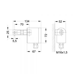 Product picture: Dimensions transmitter MTA90P